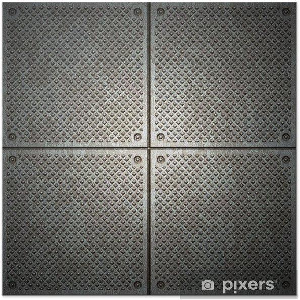 Plakat samoprzylepny Tekstury z metalu - Style