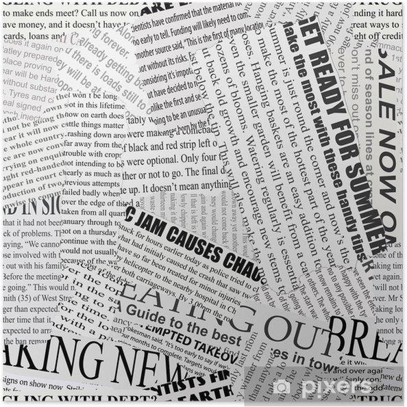 Plakat samoprzylepny Tło gazetowy -