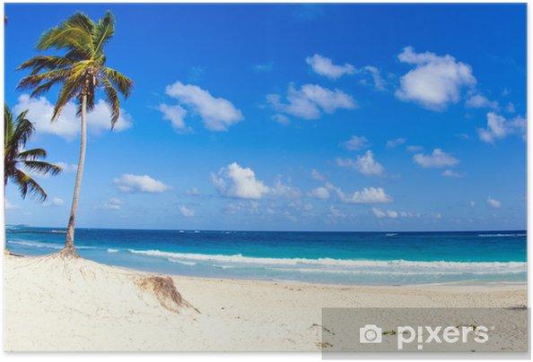 Plakat samoprzylepny Tropikalna plaża - Woda