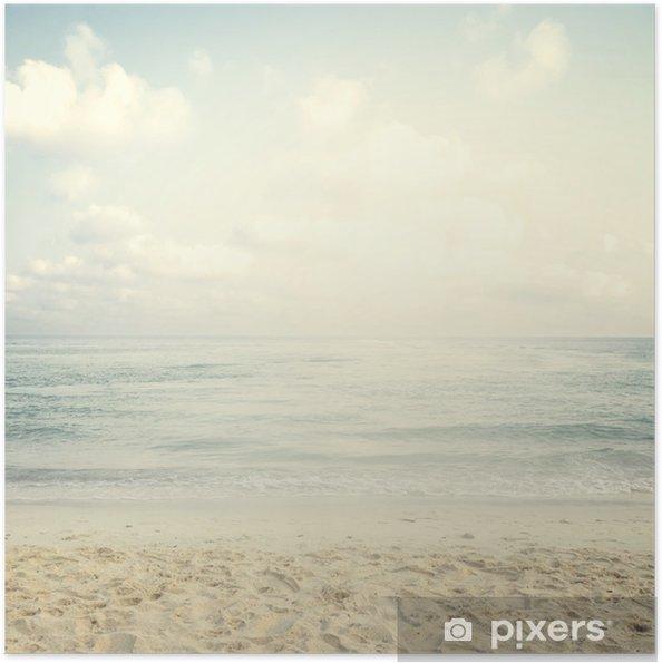 Plakat samoprzylepny Vintage tropikalnej plaży w lecie - Krajobrazy