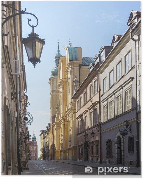 Plakat samoprzylepny Warszawa, Stare Miasto, Piwna Street, St Marcin kościół - Tematy