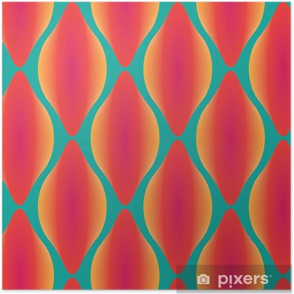 Plakat samoprzylepny Wektor kolorowe abstrakcyjne bez szwu geometryczny wzór współczesnej - Zasoby graficzne