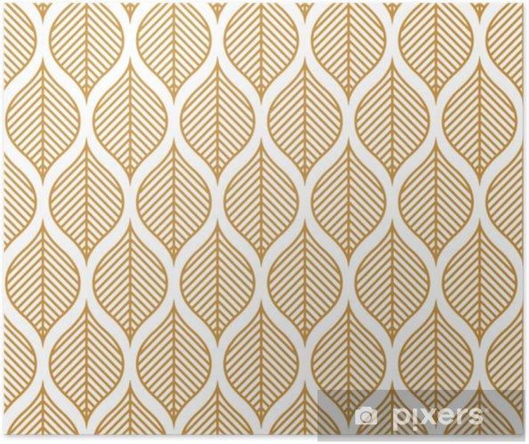 Plakat samoprzylepny Wektor wzór geometryczny liść. streszczenie tekstura liści. - Zasoby graficzne