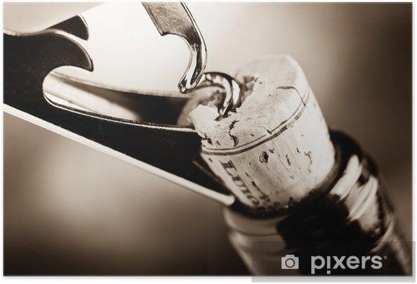 Plakat samoprzylepny Wieku wino - Do restauracji