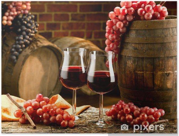 Plakat samoprzylepny Wino - Wino