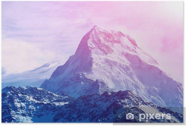 Plakat samoprzylepny Wschód słońca w górach - Krajobrazy
