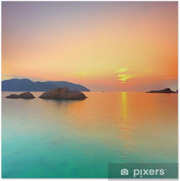 Plakat samoprzylepny Wschód słońca - Style