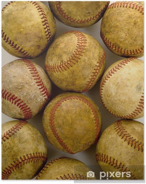Plakat samoprzylepny Zabytkowe, antyczne Baseballs - Artykuły sportowe