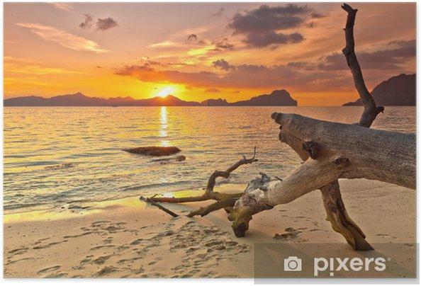 Plakat samoprzylepny Zachód słońca - Tematy