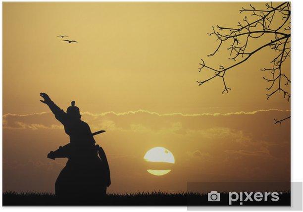 Plakat Samurai o zachodzie słońca - Style