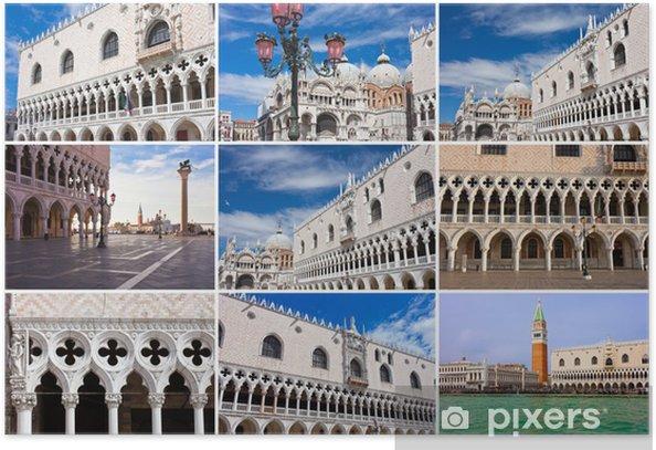 Plakat San Marco w Wenecji - Miasta europejskie
