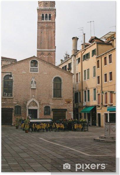 Plakat San Maurizio, Wieża, Krzywa Wieża, Wenecja - Miasta europejskie