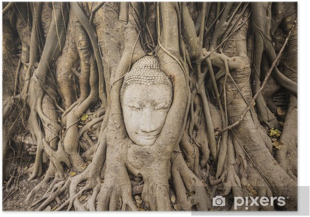 Plakat Sandstone Buddha - Azja