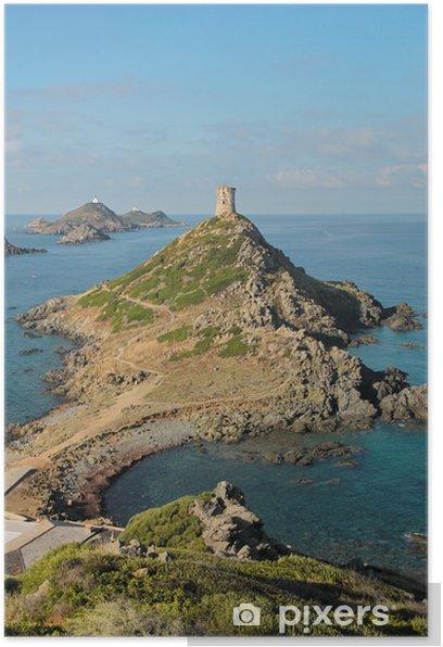Plakat Sanguinaires Wyspy, na Korsyce (Francja) - Europa
