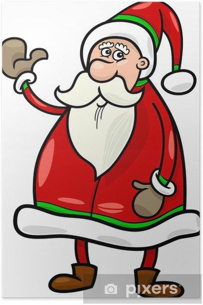 Plakat Santa Claus Vanocni Kreslene Ilustrace Pixers Zijeme Pro