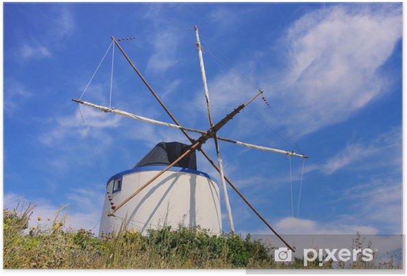 Plakát Santiago de Cacem Windmuehle - Santiago de Cacem větrný mlýn 01 - Evropa