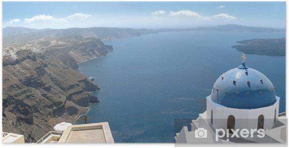 Plakát Santorini Panorama - Evropa