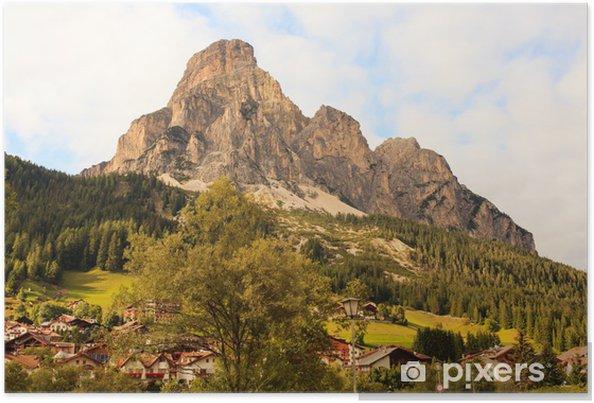 Plakat Sassongher Massif, Dolomity - Europa