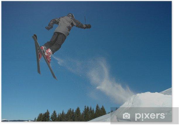 Plakat Saut à ski - Wakacje