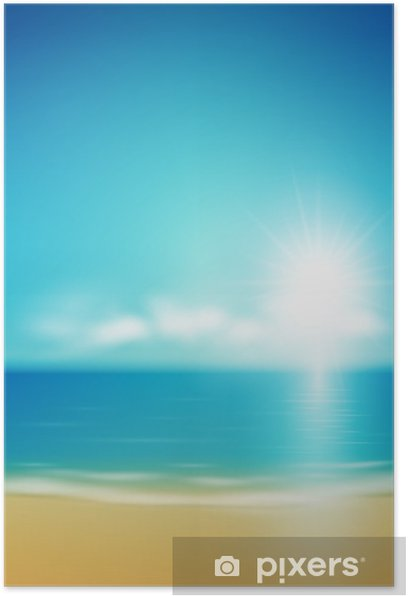 Plakat Scena letnia - Wakacje