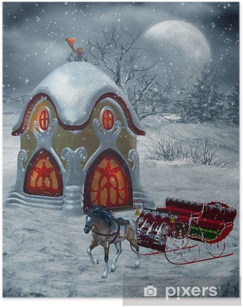 Plakat Sceneria zimowa 23 - Pory roku