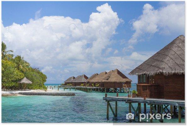 Plakat Scenerii kurortu wyspie, Malediwy - Azja