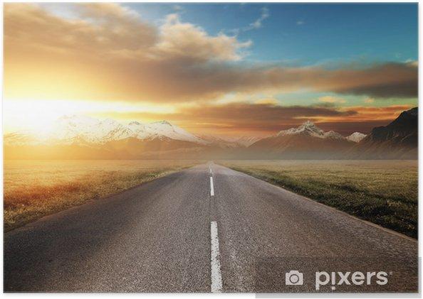 Plakát Scenic Route přes hory - Prvky podnikání