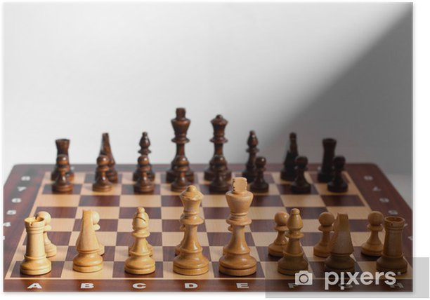 Plakat Schach - Aufstellung Weiß / Schwarz - Inne uczucia