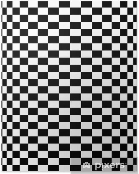 da43a72c4 Plakát Schachbrettmuster - šachovnicový vzor 10 • Pixers® • Žijeme ...