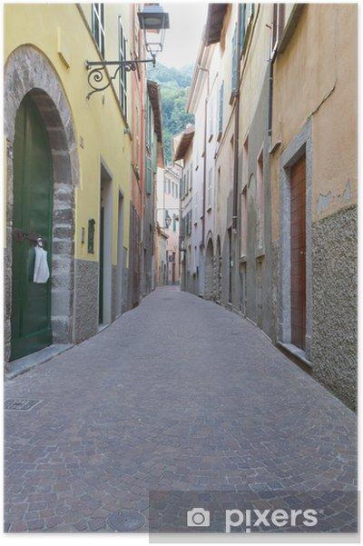 Plakat Schmale Gasse w Torno, Italien - Tematy