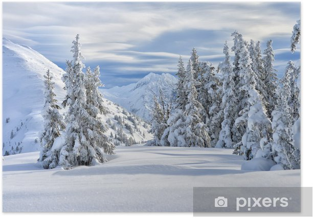 Plakat Schneelandschaft - Wakacje