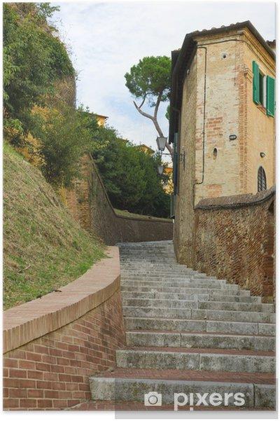 Plakát Schody v Siena - Témata
