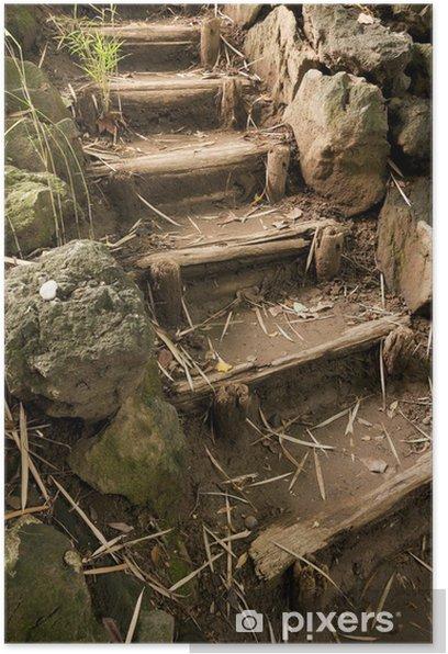 Plakat Schody w ogrodzie Sankei i japońska - Tematy