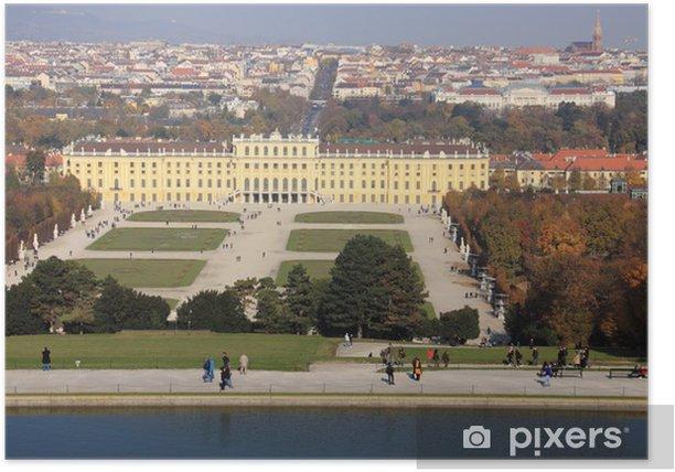 Plakat Schonbrunn Pałac Sisi w Wiedniu - Miasta europejskie