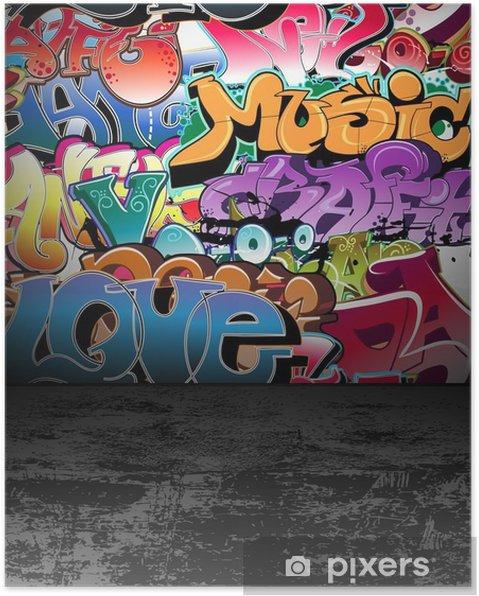 Plakat Ściany graffiti urban street art painting - Tematy