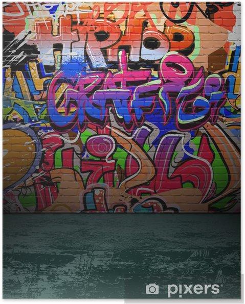 Plakat Ściany graffiti urban street art painting - Przeznaczenia
