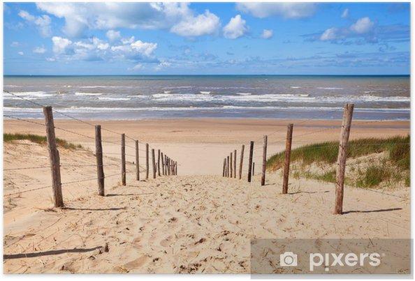 Plakat Ścieżka do piaszczystej plaży przez północno morza - Przeznaczenia
