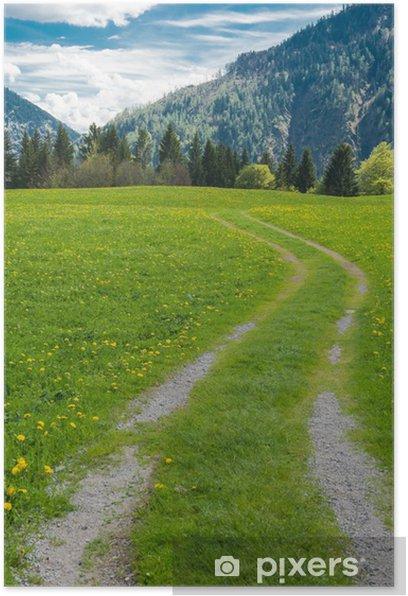 Plakat Ścieżka w Alpach Bawarskich - Sporty na świeżym powietrzu