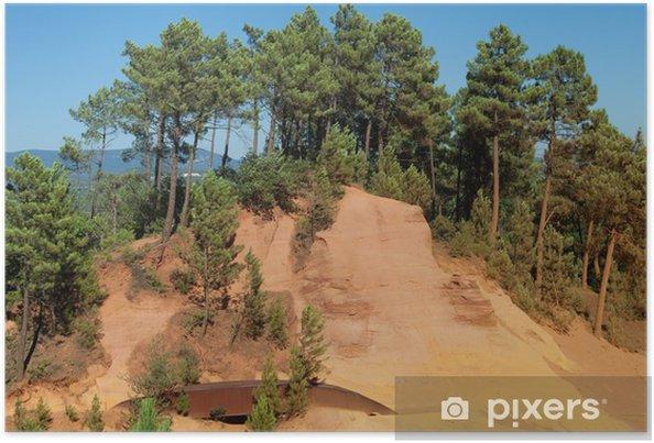 Plakat Ścieżka z ochry w Roussillon - Europa