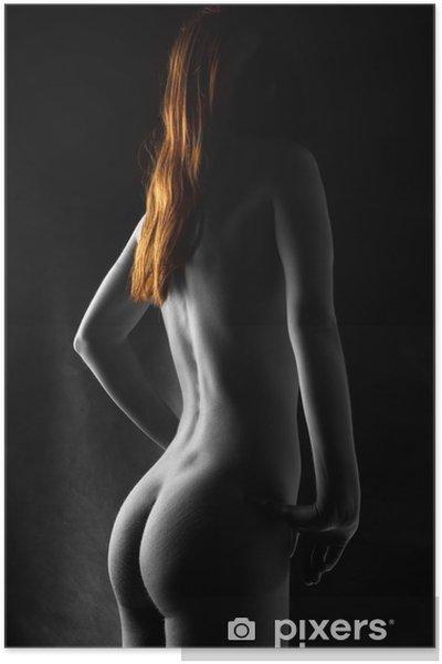 Plakát Selektivně barevné nude s jasně červenými vlasy - Témata