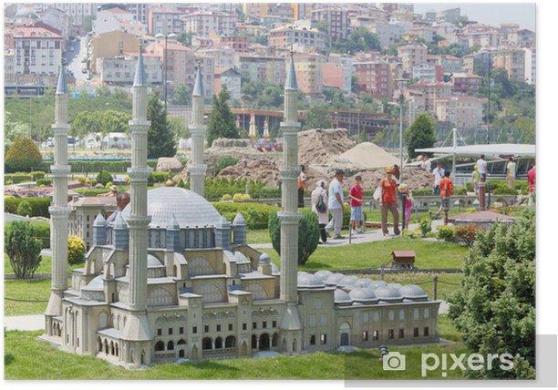 Plakat Selimiye Meczet modelu i turystów - Bliski Wschód
