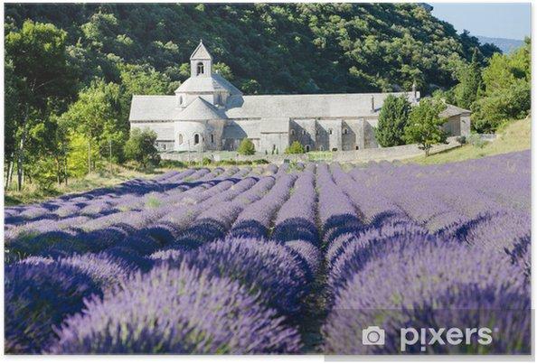 Plakat Senanque opactwo z lawendowego pola, Provence, Francja - Tematy