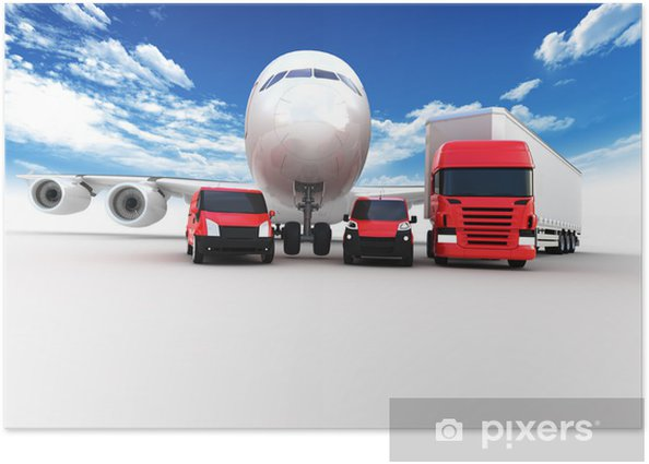 Plakat Seria transportowa - Transport drogowy