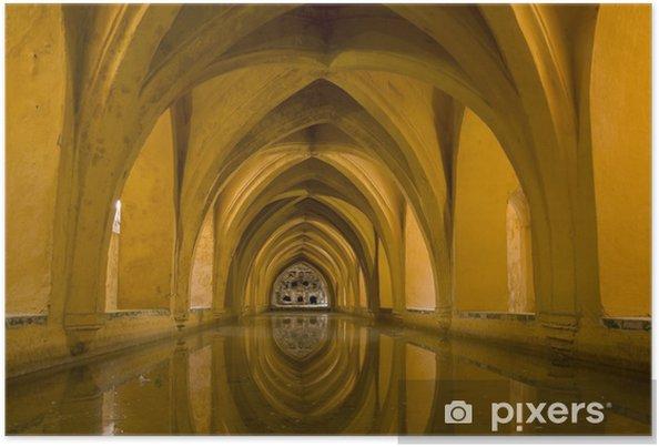 Plakát Sevilla - Royal Alcazar koupele - Evropa