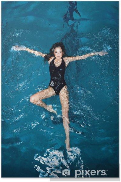 Plakat Sexy pływakiem. - Sporty indywidualne