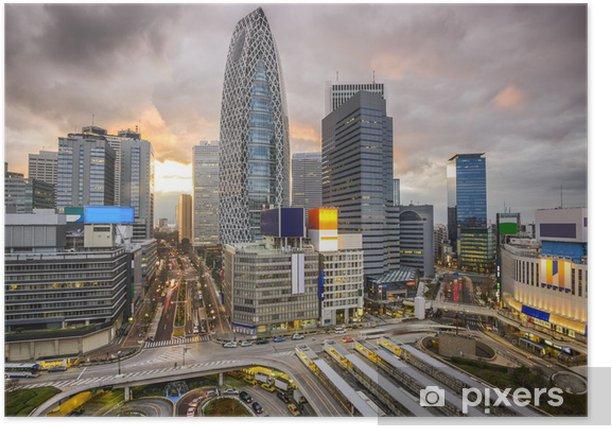 Plakát Shinjuku, Tokio, Japonsko Panoráma - Asijská města