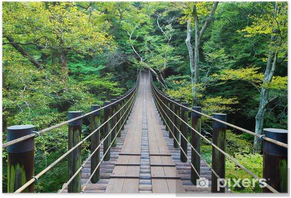 Plakat Shiomidaki wiszący most - Infrastruktura