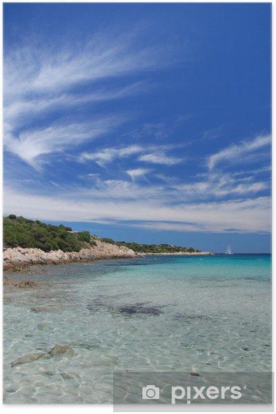Plakat Shipwreck beach, Isola Caprera, Sardynia - Wyspy
