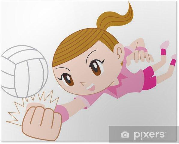 Plakat Siatkówka - Sporty indywidualne