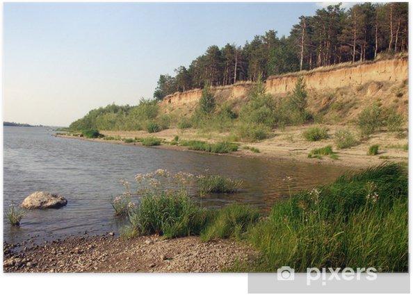 Plakat Siberian brzeg rzeki - Natura i dzicz